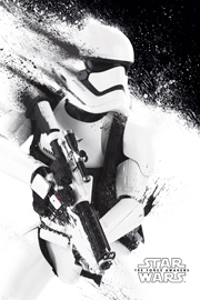 Poster - Star Wars EP7 Stormtrooper grey