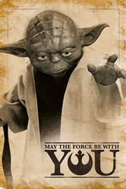 Poster - Star Wars Yoda May The Force