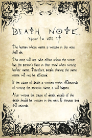 Poster - Death Note Rules
