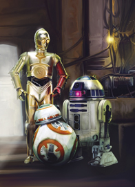 Poster - STAR WARS Three Droids Disney