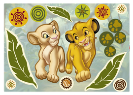 Poster - Simba and Nala Disney Decosticker Aufkleber