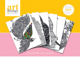 Poster - Colouring Poster Art Therapy - Birds