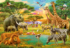 Poster - African Animals Foto-Tapete