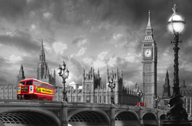 Poster - Bus on Westminster Bridge