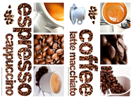 Poster - Coffee  Wall Stickers Vinyl