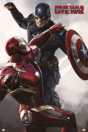 Poster - Captain America Civil War - Cap vs Iron Man