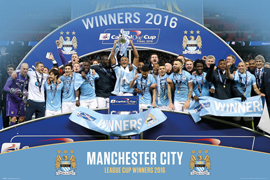 Manchester City League Cup Winners 15/16