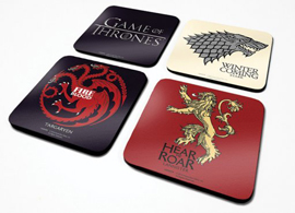 Poster - Untersetzer-Set Game Of Thrones