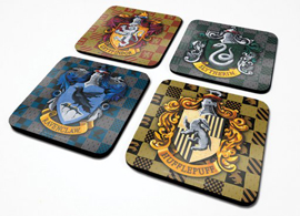 Poster - Untersetzer-Set Harry Potter Shield
