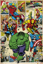 Poster - Marvel Here come the heroes