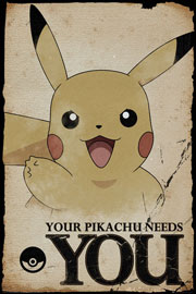 Poster - Pokemon - Pokémon Pikachu Needs You