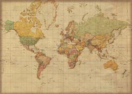 landkarten giant xxl poster antike weltkarte deutsch 1 30 mio 140x100 ebay. Black Bedroom Furniture Sets. Home Design Ideas