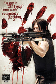Poster - Walking Dead Bloody Hand Daryl