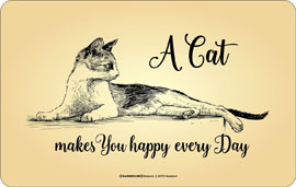 Poster - Katzen Cat makes you happy