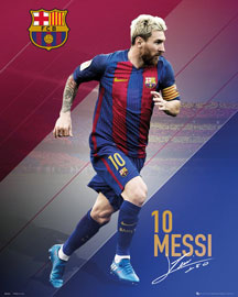 Poster - FC Barcelona Messi 16/17