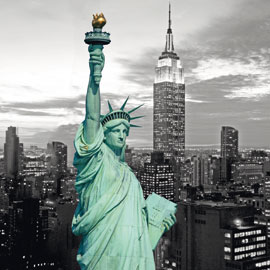 Poster - New York Statue of Liberty Colourlight