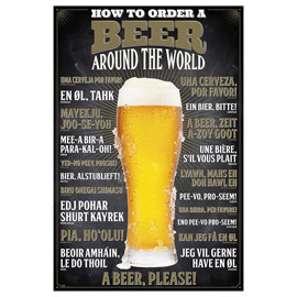 Poster - Beer How to order - Around the World
