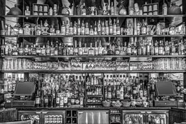 Poster - Black & White  Bureau Bar