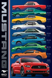 Poster - Mustang 50 Years