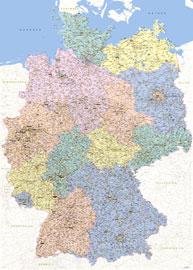 Landkarten Weltkarte Mit Flaggen Deutsch Giant Poster 140x100
