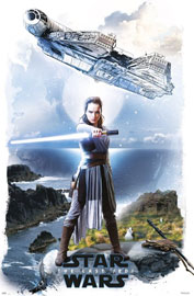 Poster - Star Wars - The Last Jedi EP8 - Rey