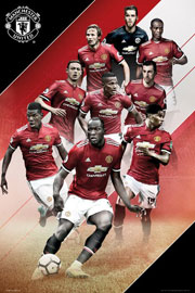 Poster - Fußball Manchester United - Players 17/18