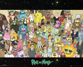 Poster - Rick & Morty Cast