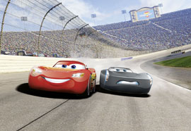 Poster - Cars Disney Foto-Tapete Cars 3 Curve
