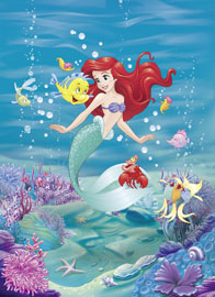 Poster - Disney Foto-Tapete - Ariel Singing