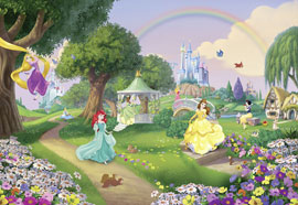 Poster - Disney Foto-Tapete - Princess Rainbow