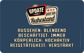 Poster - Update Ruhestand