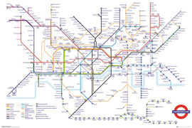 Poster - London Transport - Underground Map