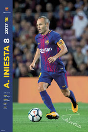 Poster - Fußball Barcelona, FC - Iniesta Facts 17/18