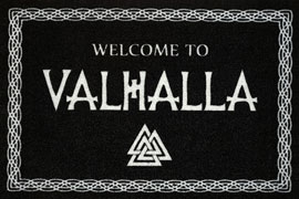 Poster - Fußmatte Welcome to Valhalla