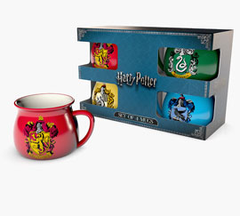 Poster - Geschenk-Set Harry Potter - House Crests