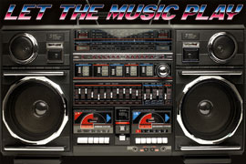 Poster - Ghettoblaster 80s Boombox – Let the music play