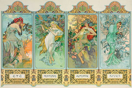 Poster - Mucha, Alfons Maria Four Seasons
