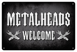 Poster - Metalheads Welcome