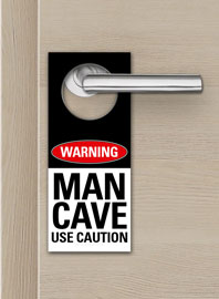 Poster - Türanhänger Warning - Man Cave - Use Caution