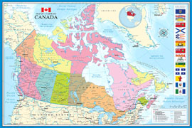 Poster - Landkarten Map of Canada
