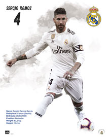 Poster - Fußball Real Madrid - Sergio Ramos 18/19