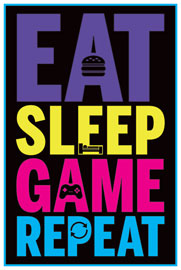 Gaming Eat, Sleep, Game, Repeat
