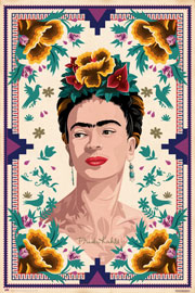 Poster - Kahlo, Frida Illustration