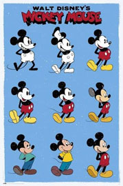 Poster - Disney Mickey Mouse Evolution