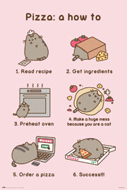 Poster - Pusheen Pizza