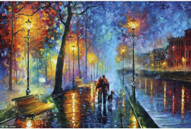 Poster - Leonid Afrémov Romantic Couple