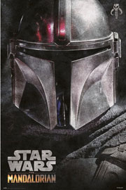 Poster - Star Wars The Mandalorian - Helmet