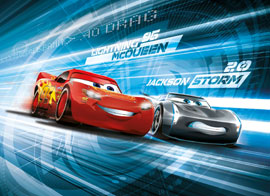Poster - Fototapete Cars 3 - Simulation