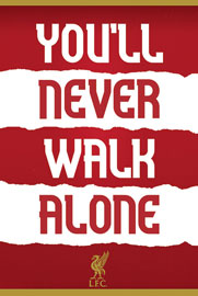 Poster - FC Liverpool You'll Never Walk Alone