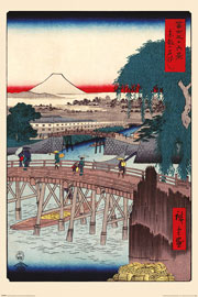 Poster - Hiroshige Ichikoku Bridge In The Eastern Capital